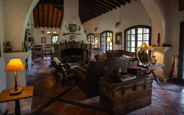 Quebrada de los Cuervos. Main family living room of Pinos de la Quebrada.